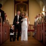 Bryllupsbillede i kirken